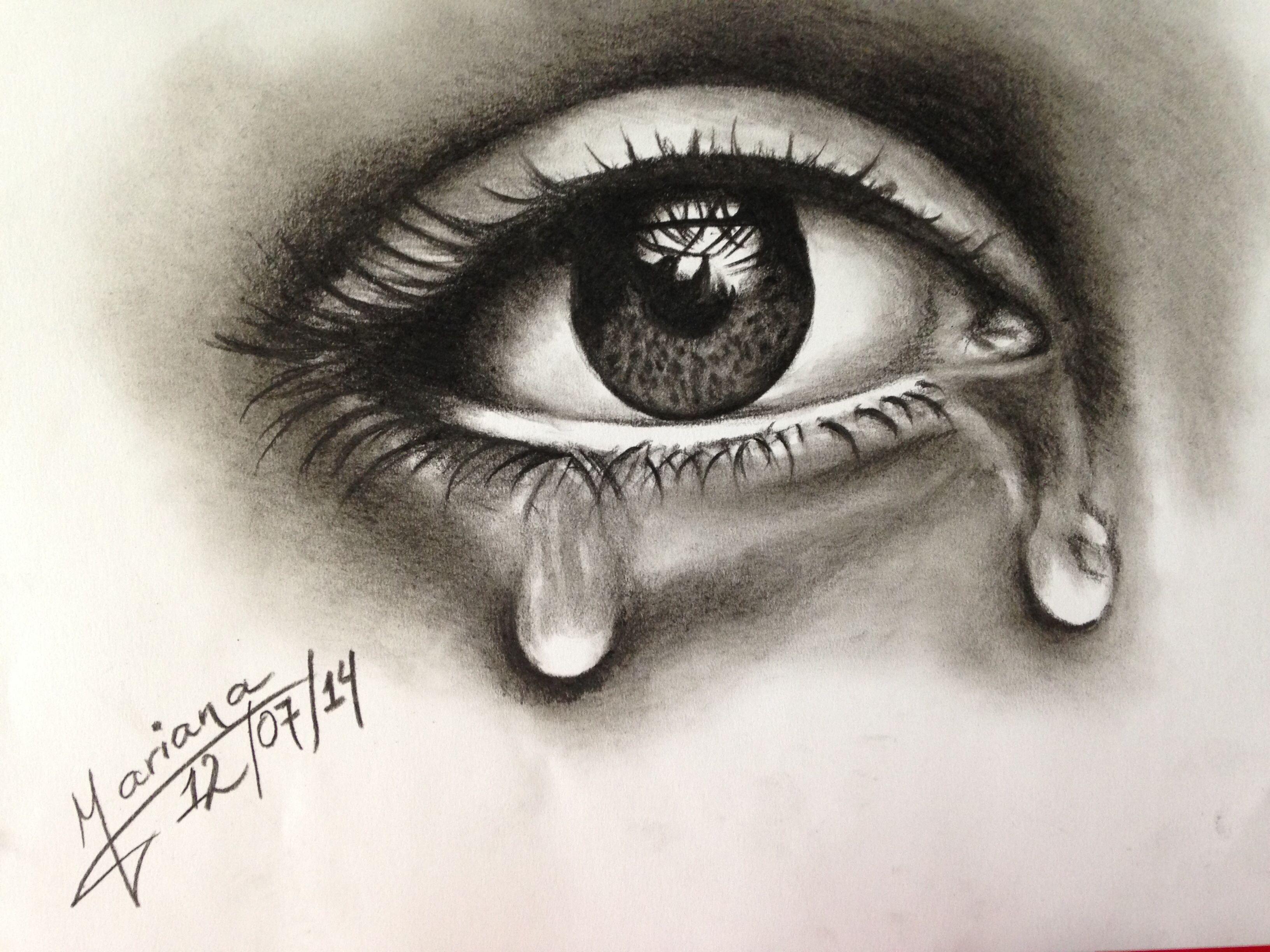 Tratando de aprender a dibujar un ojo realista  Laminas lapiz