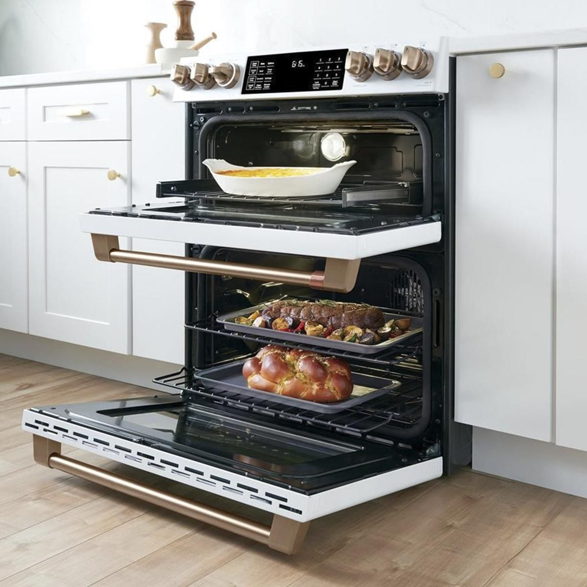 Ge Cafe 30 Slide In Double Oven