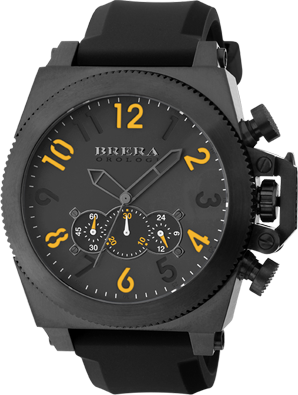 Brera orologi militare black black ip black rubber cambered k1 anti reflective brmlc5002 for Anti reflective watches