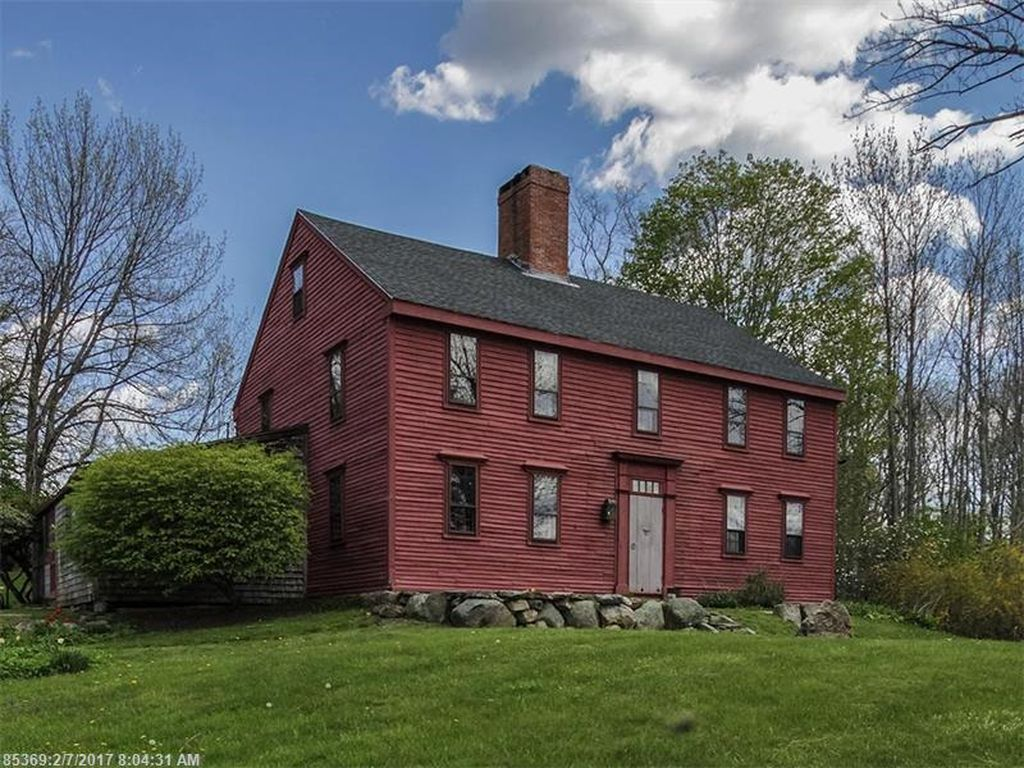 Maine Property Location Old Houses For Sale And Historic Real Estate Listings Post And Beam Colonial House Old Houses For Sale