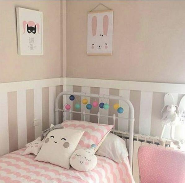 habitaciones-infantiles-niñas-rosa | Cojines y almohadones ...