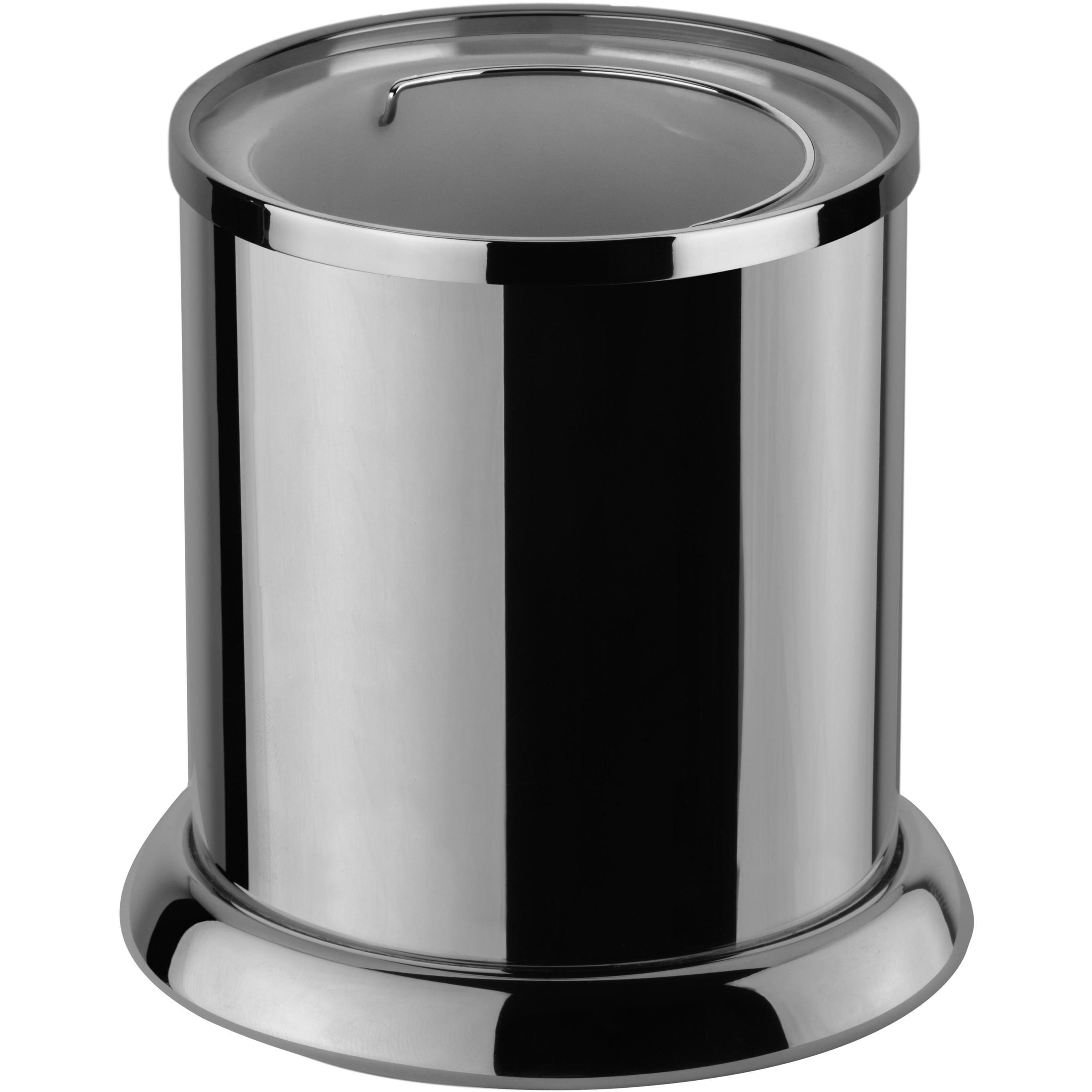 Classic Open Top Wastebasket Trash Can For Bathroom Kitchen