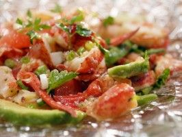 Lobster and Grapefruit Salad from CookingChannelTV.com