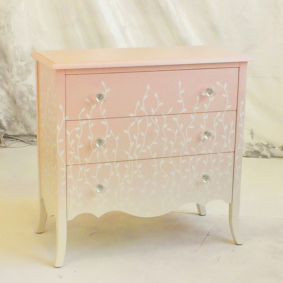 grasstanding eplap 17621 urban furniture. Pink Painted Furniture. Sydney Barton - Furniture: And White Ombre Chest With Grasstanding Eplap 17621 Urban Furniture O