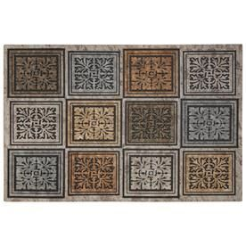 Mohawk Home Mohawk Doorscapes Estate Mat Masonry Foliage 1 Ft 11 Inx2 Ft 11 In 4792 17002 23x35 Mohawk Home Door Mat Mat Rugs