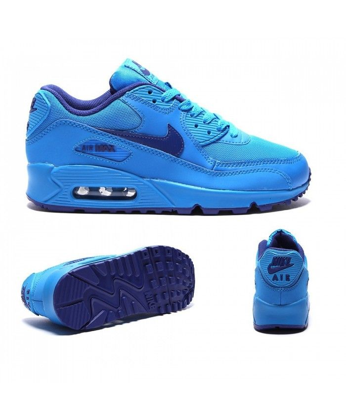 Nike Air Max 90 Junior Flood Blue Trainers