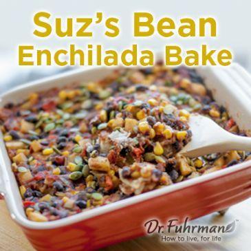 Suzi's (Fuhrman) Favorite Bean Enchilada Bake Reci