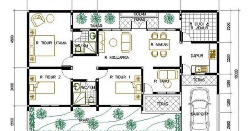 4 Aneka Denah Rumah 3 Kamar Tidur 10x15 M Yang Minimalis Jika Anda Sedang Mencari Inspirasi Tentang Ukuran Denah Rumah Barangkali Denah Rumah Rumah Desain