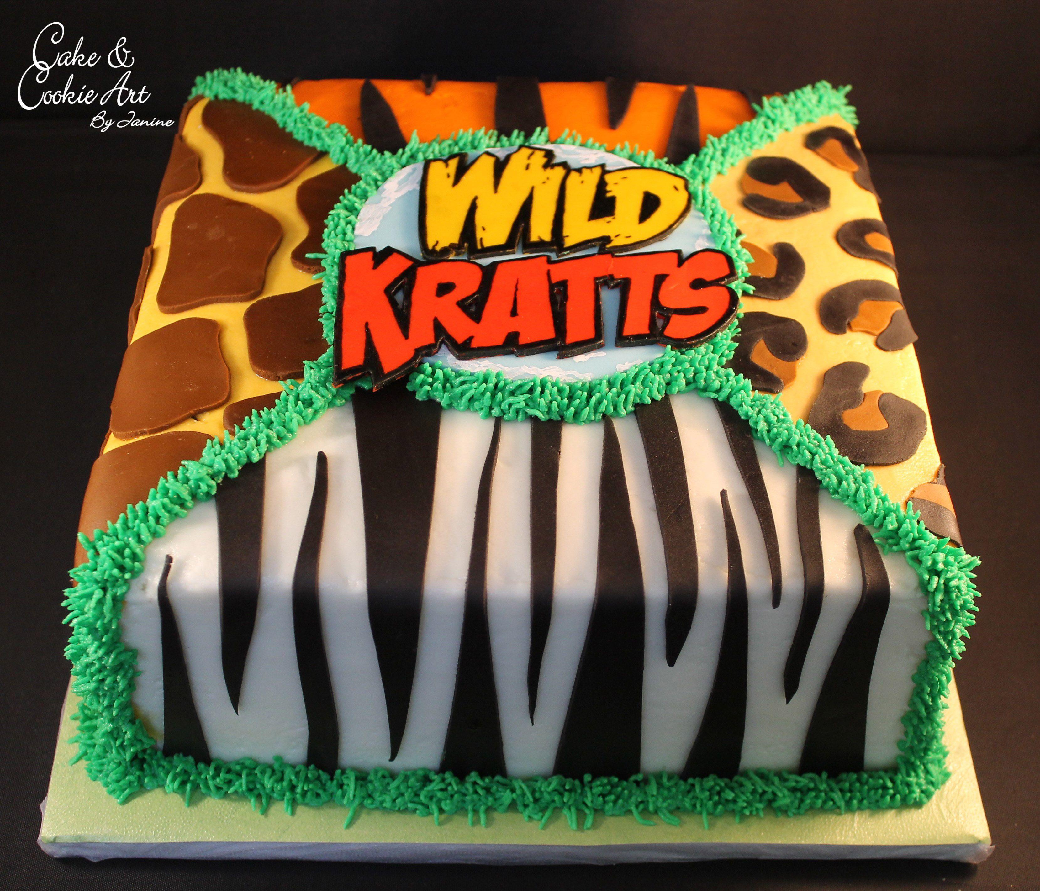 Super Wild Kratts Themed Cake With Images Wild Kratts Birthday Party Personalised Birthday Cards Akebfashionlily Jamesorg