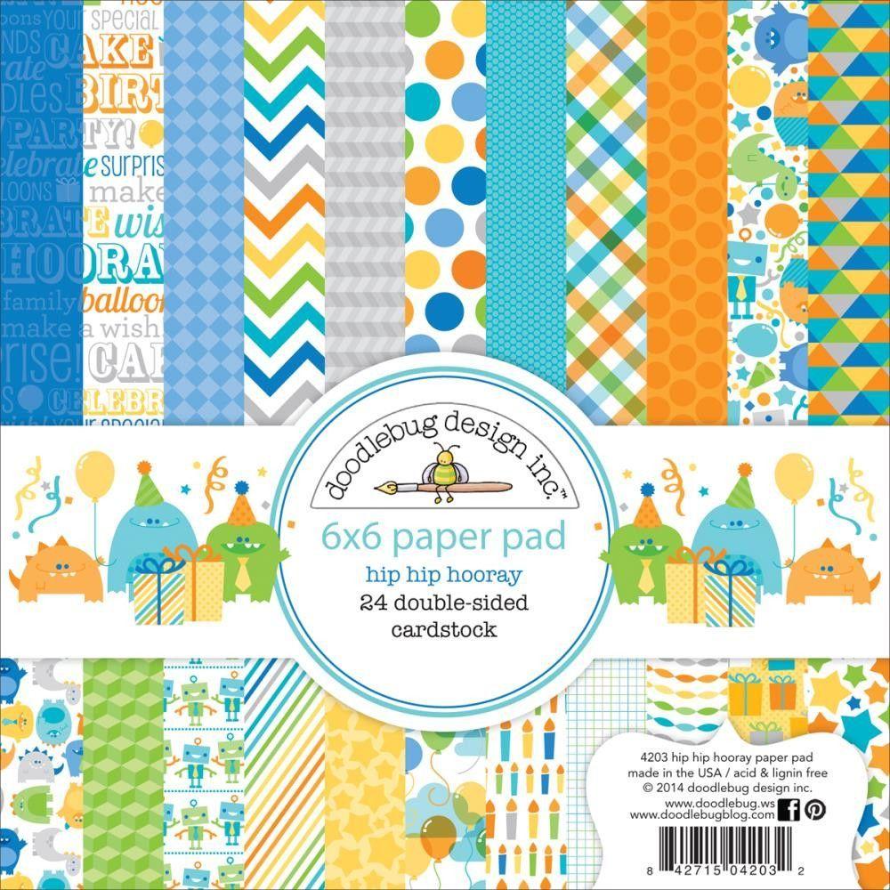 Scrapbook paper collections - Doodlebug Design Hip Hip Hooray Collection 6 X 6 Paper Pad Celebrate With The Hip Hip Hooray Collection Paper Pad By Doodlebug Design