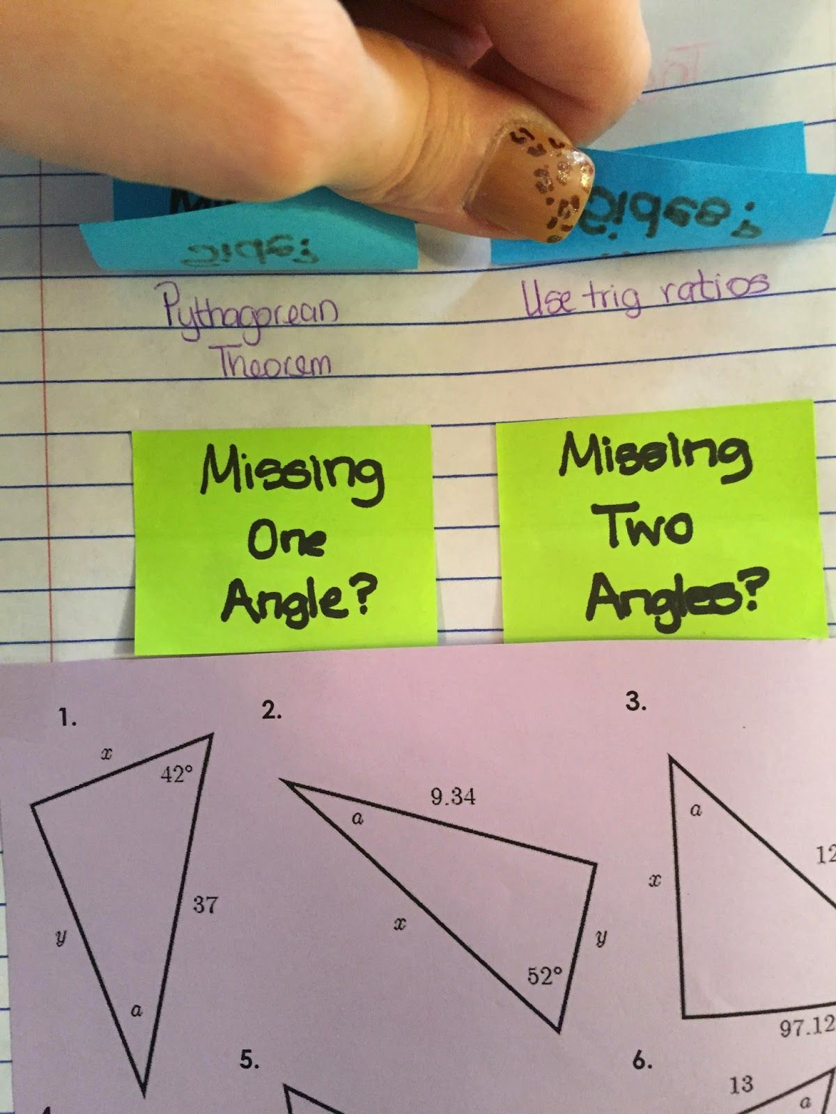 Misscalcul8 Trig Unit 2 Right Triangle Trig Interactive