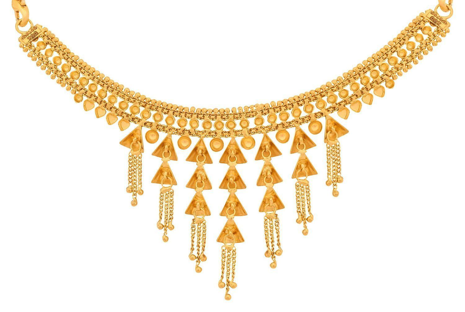 7fdc4ecbfde Buy Senco Gold 22k Yellow Gold Choker Necklace Online at Low Prices in India