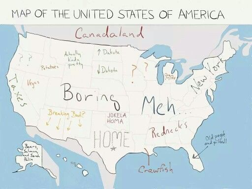 Map Of The Us According To Texas Map of the USA according to Texans | Texas humor, United states