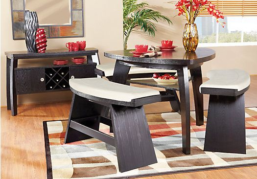 Noah Chocolate Vanilla 4pc Counter Height Dining Room Dining Room Sets Rooms To Go Furniture Affordable Dining Room Sets