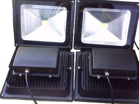 Bowfishing Led Floodlight 100w Slim Case 110v Boat Lighting 4pcs Pack Bowfishing Bowfishing Lights Boat Lights