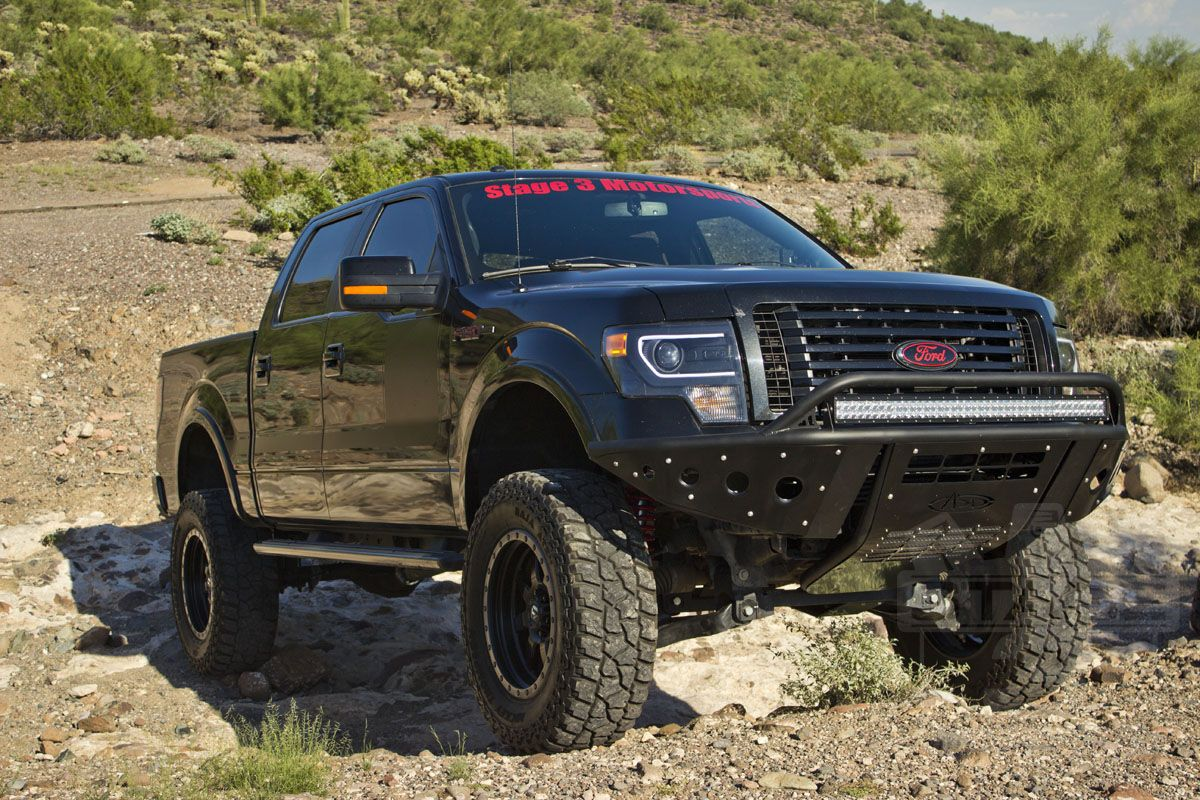 2012 F150 Ecoboost With 8 Inch Lift And Add Stealth Front Bumper Ford F Series F150 Trucks