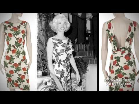 """Julien's Auctions: Hollywood Legends 2015 Marilyn Monroe Dress """"Somethings Got To Give"""""""