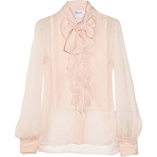 For Sale For Sale 2018 New For Sale Valentino Gathered Silk Top w/ Tags Clearance For Cheap Best Wholesale For Sale lyTTrKM