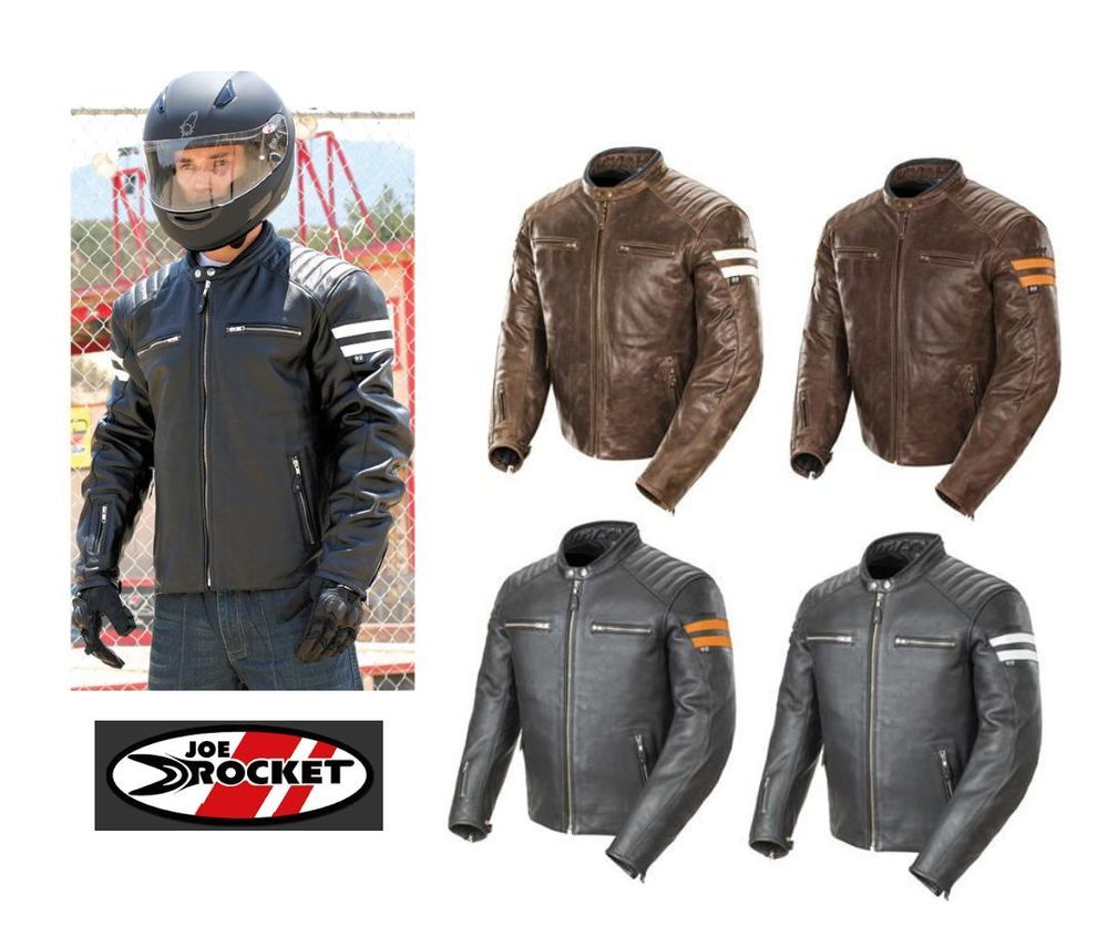 a8446ba0d Details about Joe Rocket Classic '92 Mens Leather Street Hog Harley ...
