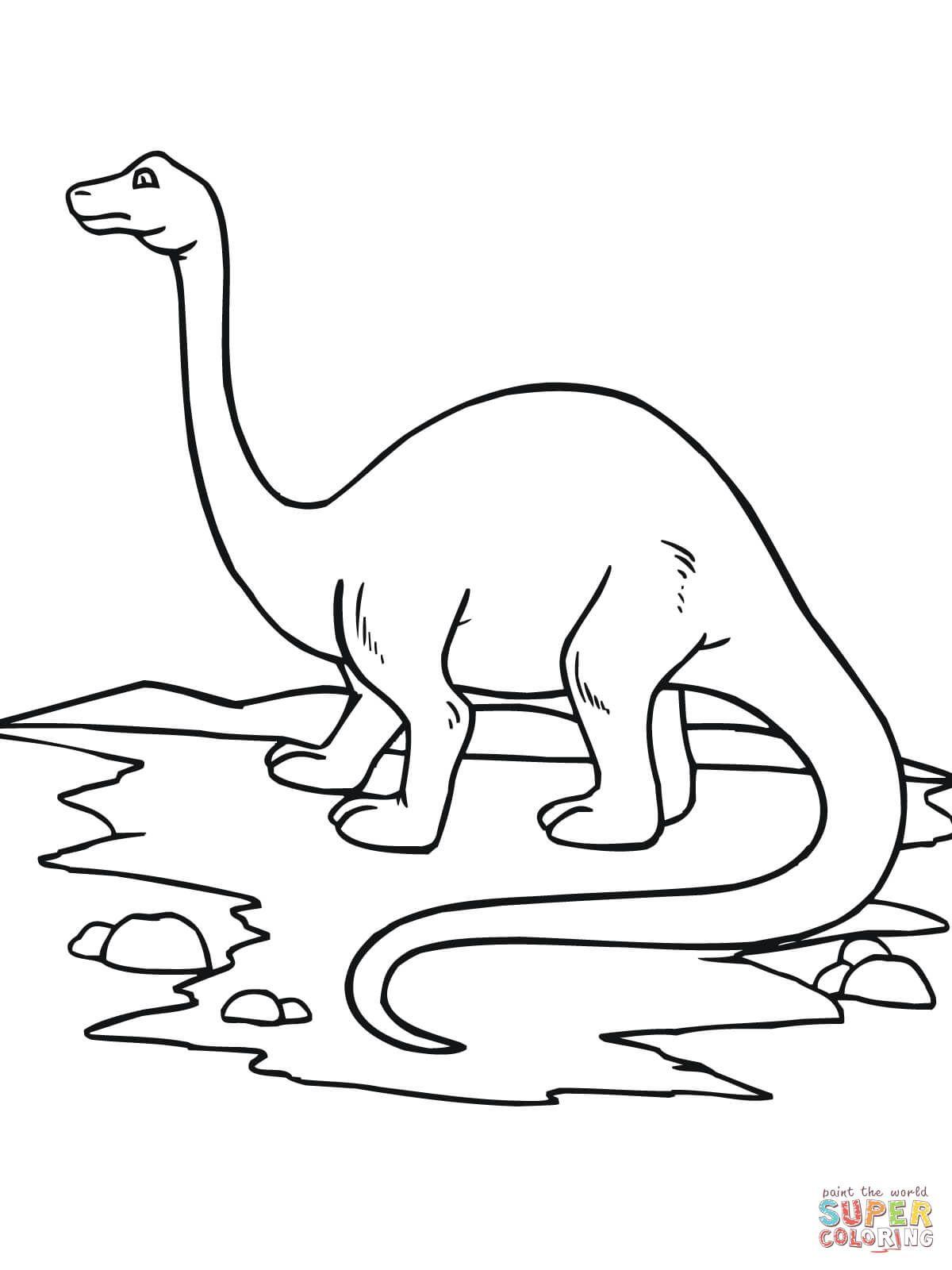 Brontosaurus Dinosaur Coloring Page Creative Free Coloring Pages
