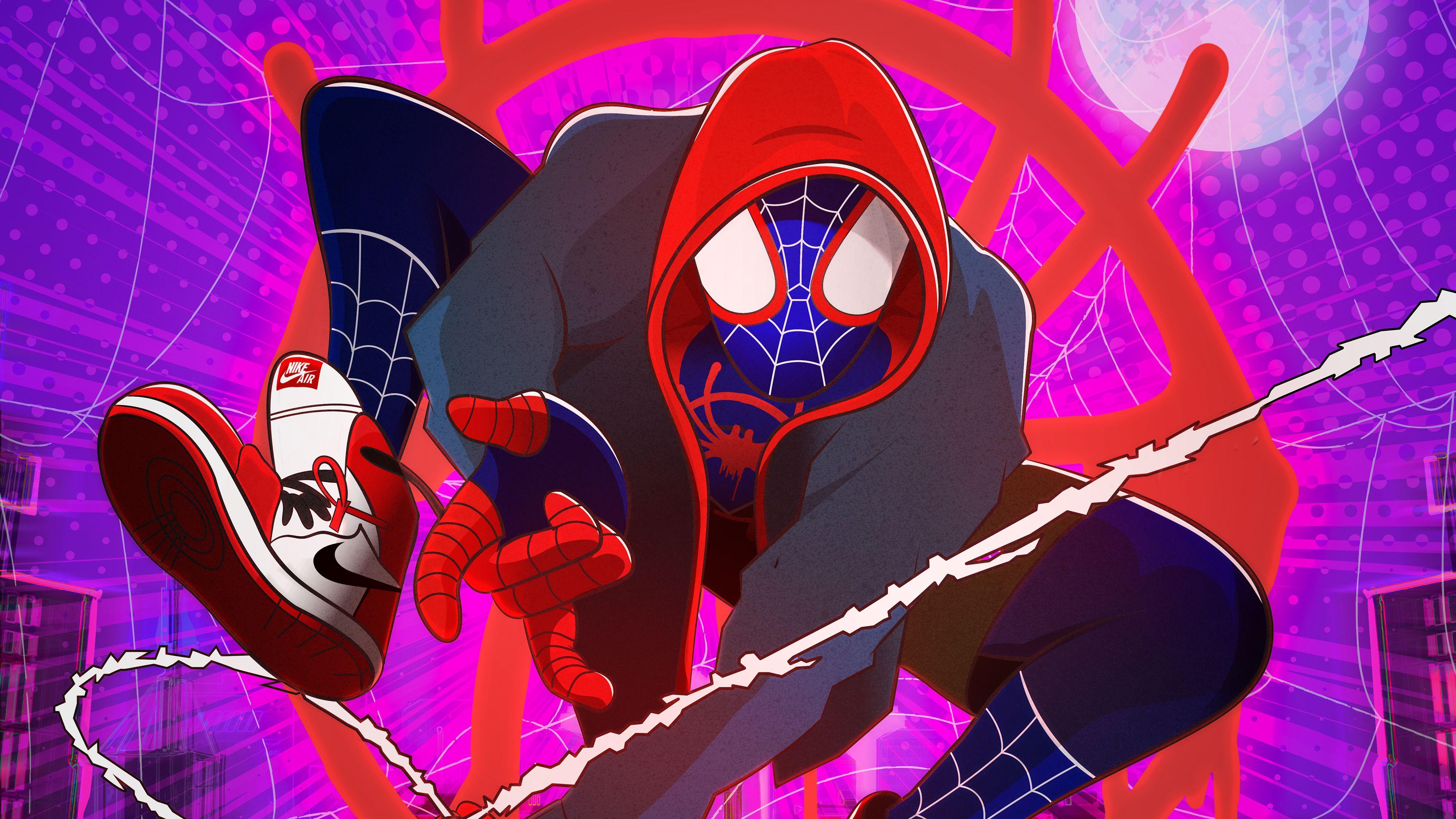Spiderman Graphic Design Artwork 4k Superheroes Wallpapers Spiderman Wallpapers Spiderman Into The Spider Verse Wallpape Spiderman Spider Verse Art Wallpaper