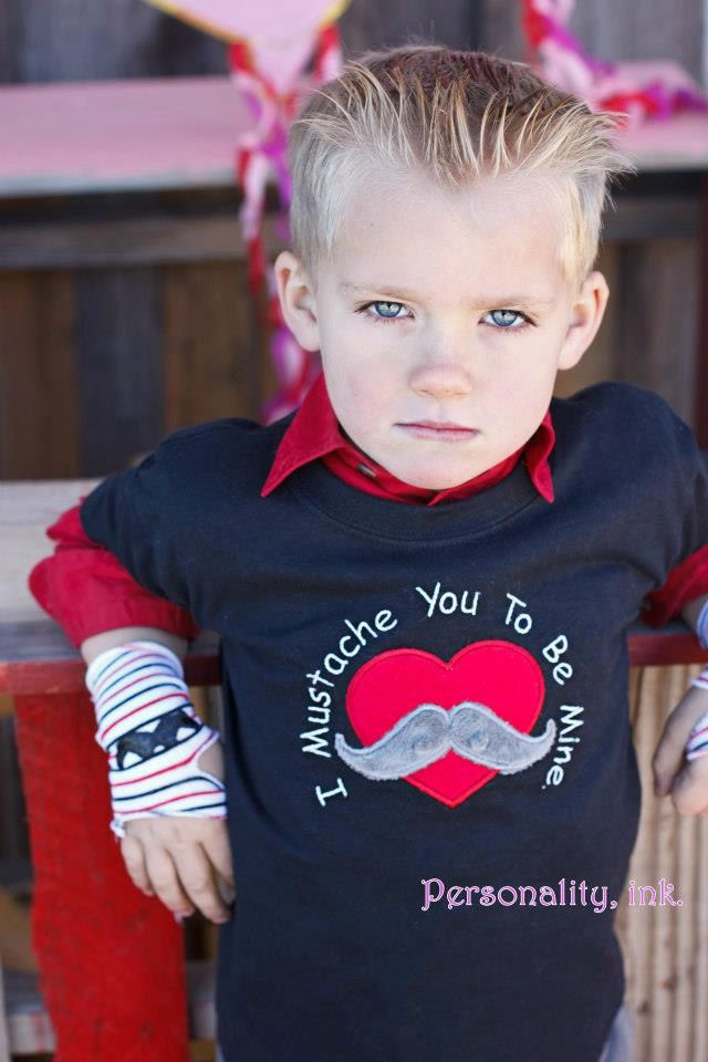 boys personalized valentines day applique shirt or onesie i mustache you to be my valentine - Boys Valentines Shirt