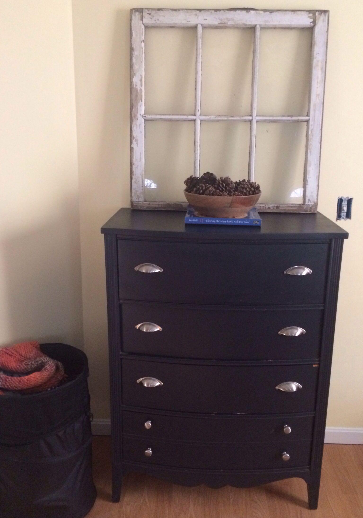 Bedroom furniture antique window repainted dresser and new pulls