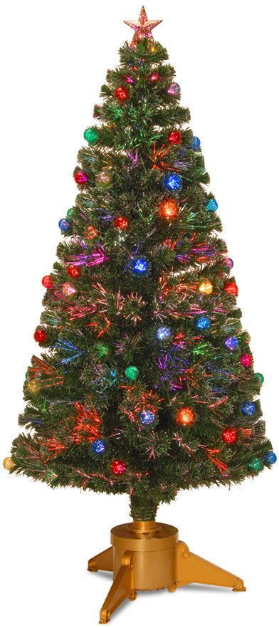 National Tree Company 6-ft Fiber-Optic Artificial Christmas Tree