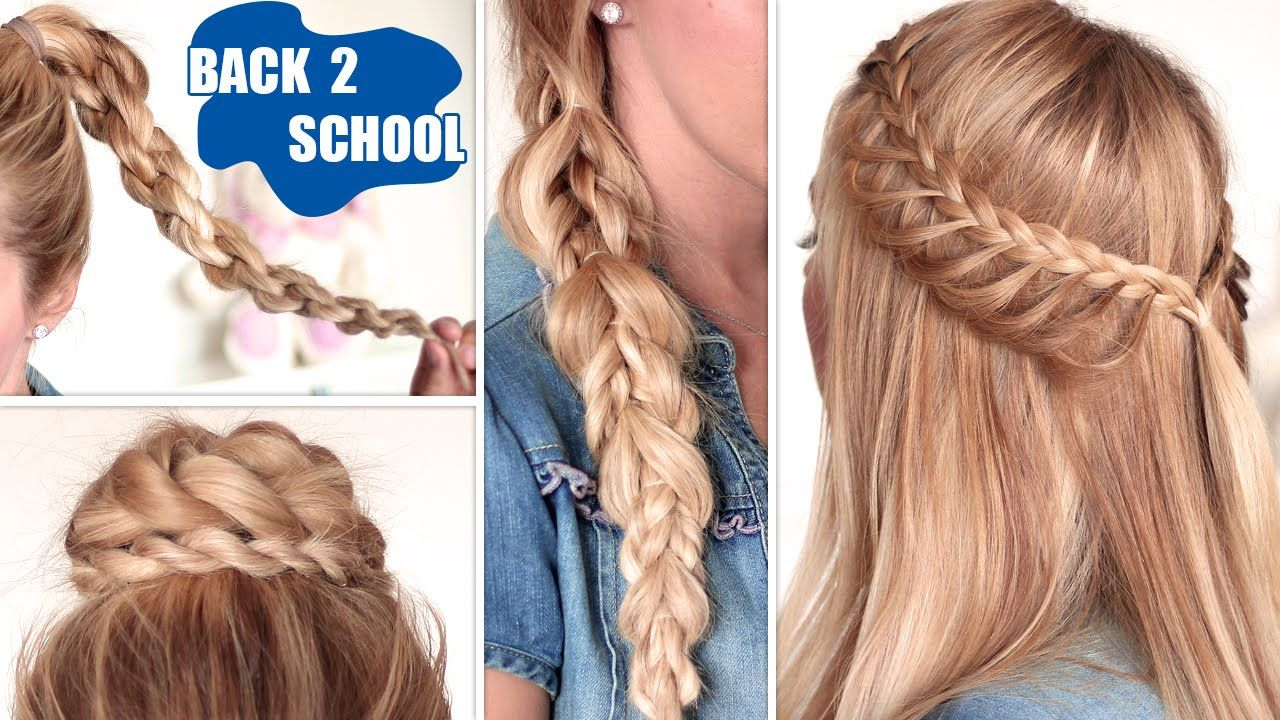easy back to school hairstyles ☆ cute, quick and easy