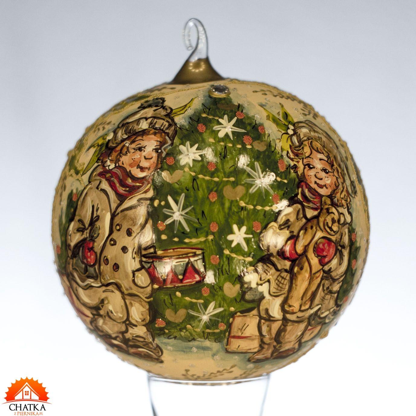 Swiateczna Bombka Recznie Robiona Chlopiec I Dziewczynka Christmas Bulbs Christmas Balls Holiday Decor