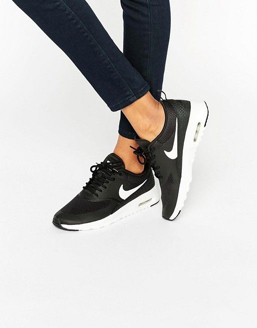 new products 2ddf0 2eb58 Nike   Nike Air Max Thea Trainers In Black And White