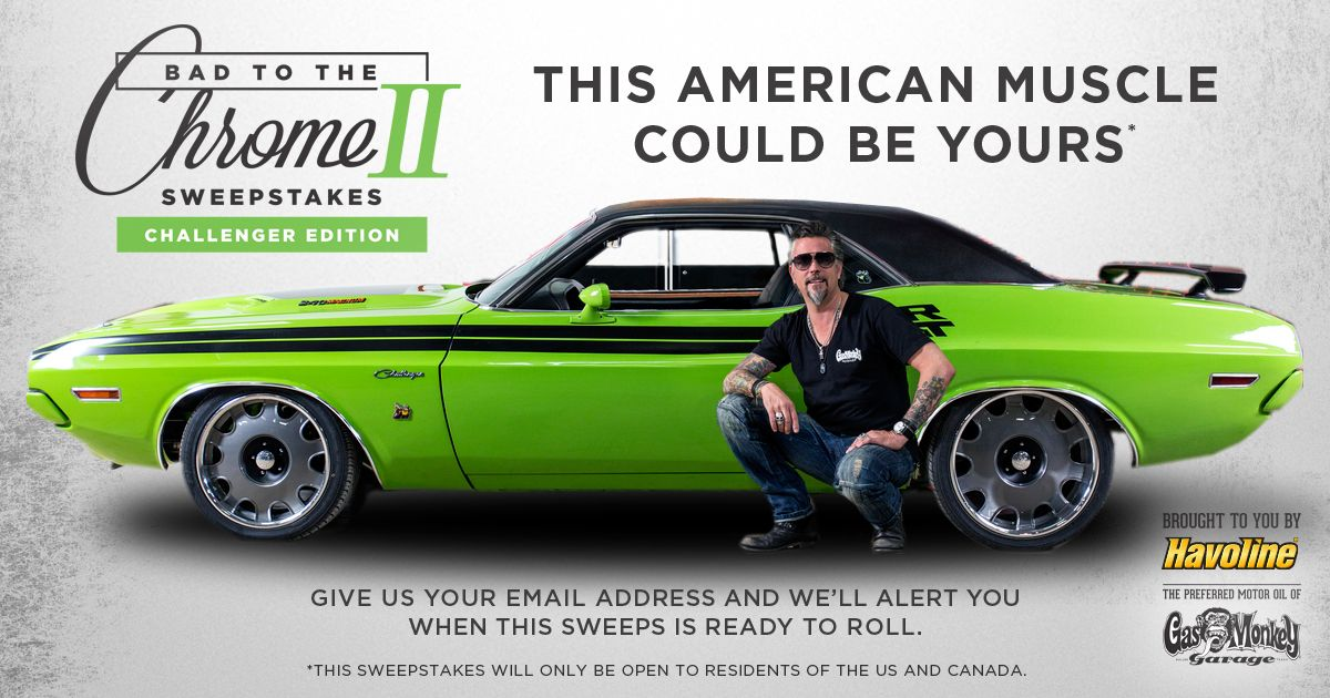 Fast n loud challenger sweepstakes