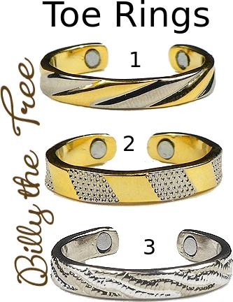Magnetic Toe Rings