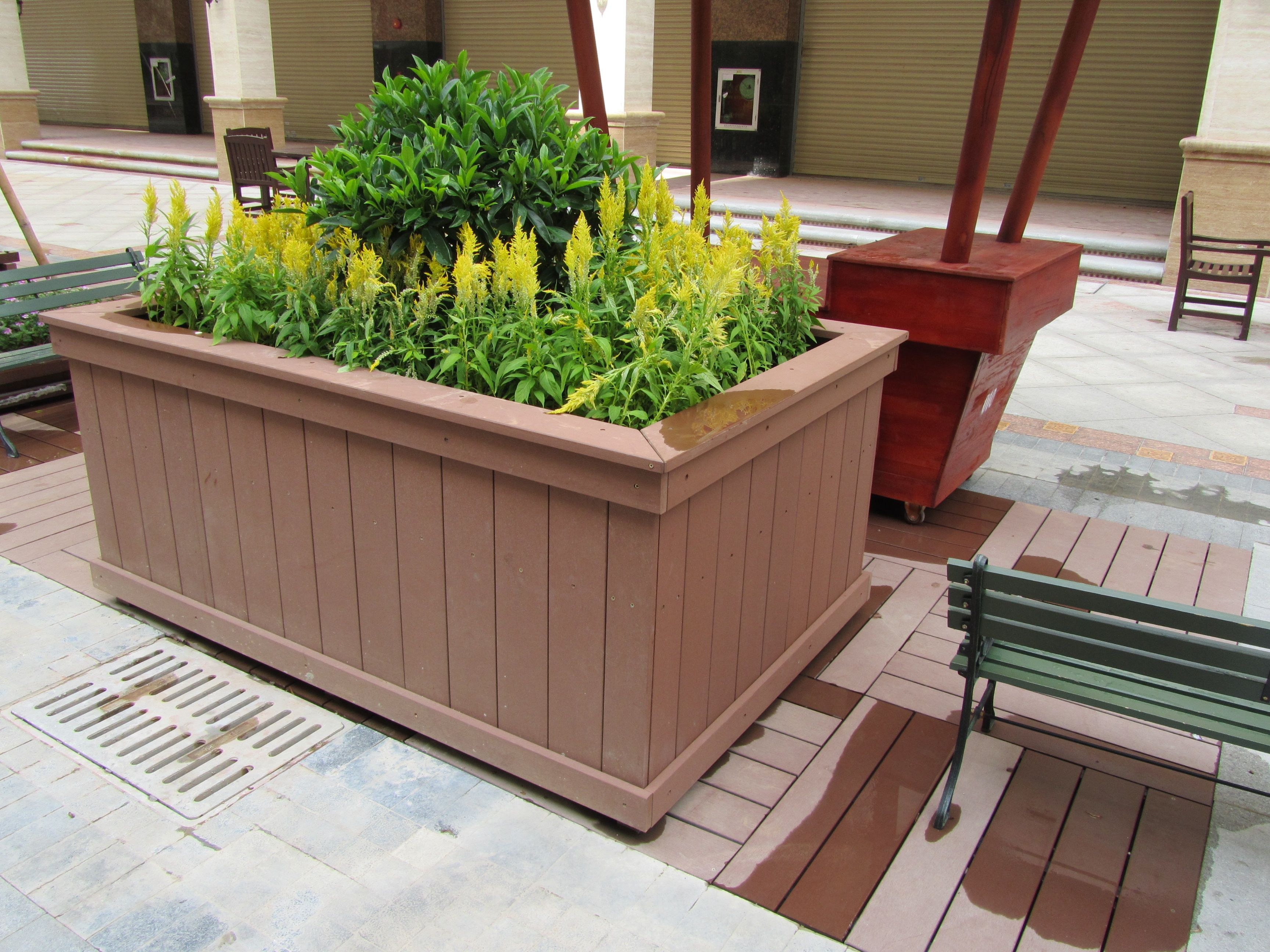 Non Absorbent Movable Flower Boxes Supplier #park #garden #plaza #flower # Box
