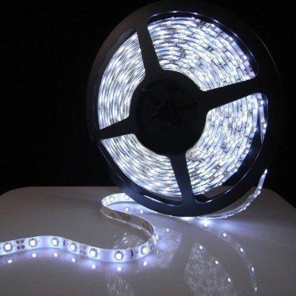 Triangle Bulbs T93007 1 1 Pack 300 3528 Smd 12 Volt Pure White 16 4 Feet Waterproof Flex Led Strip Lighting Flexible Led Strip Lights Led Rope Lights