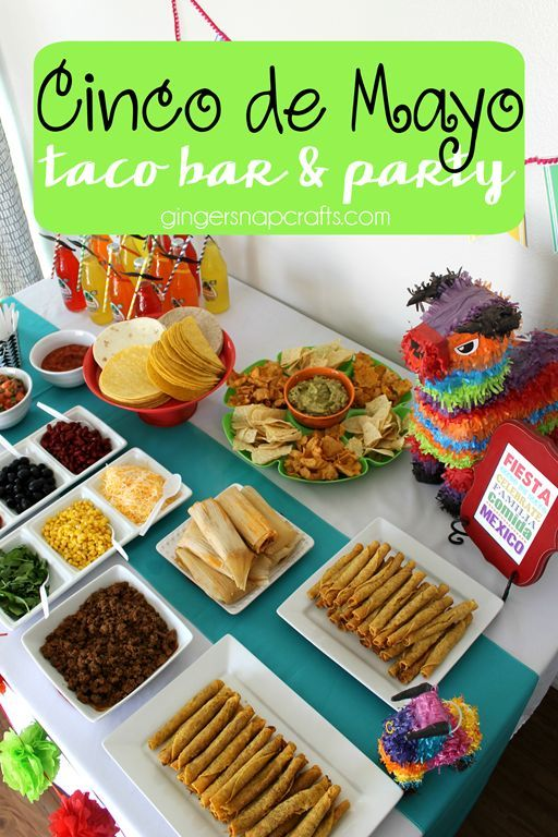 Cinco de mayo taco bar party diy mexican party and for Food bar party ideas
