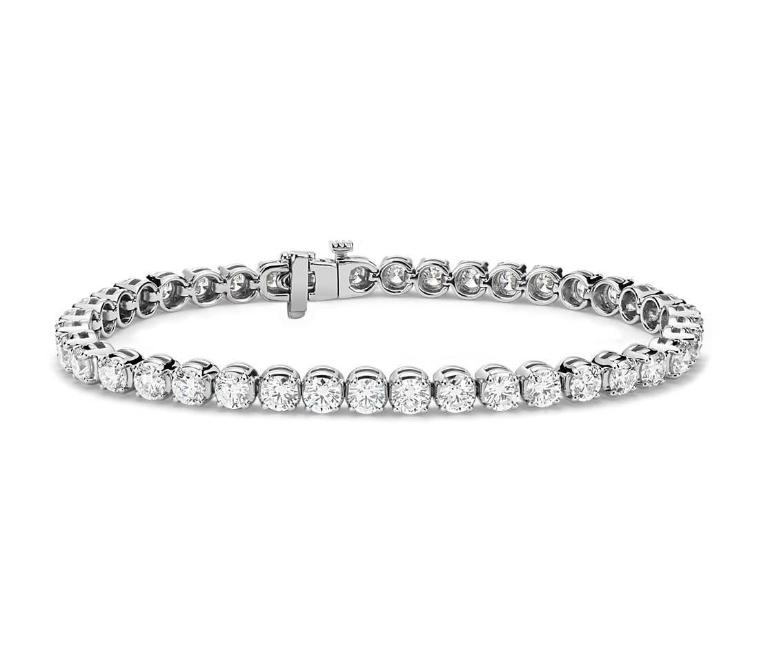 Diamond tennis bracelet in k white gold ct tw jewelry box