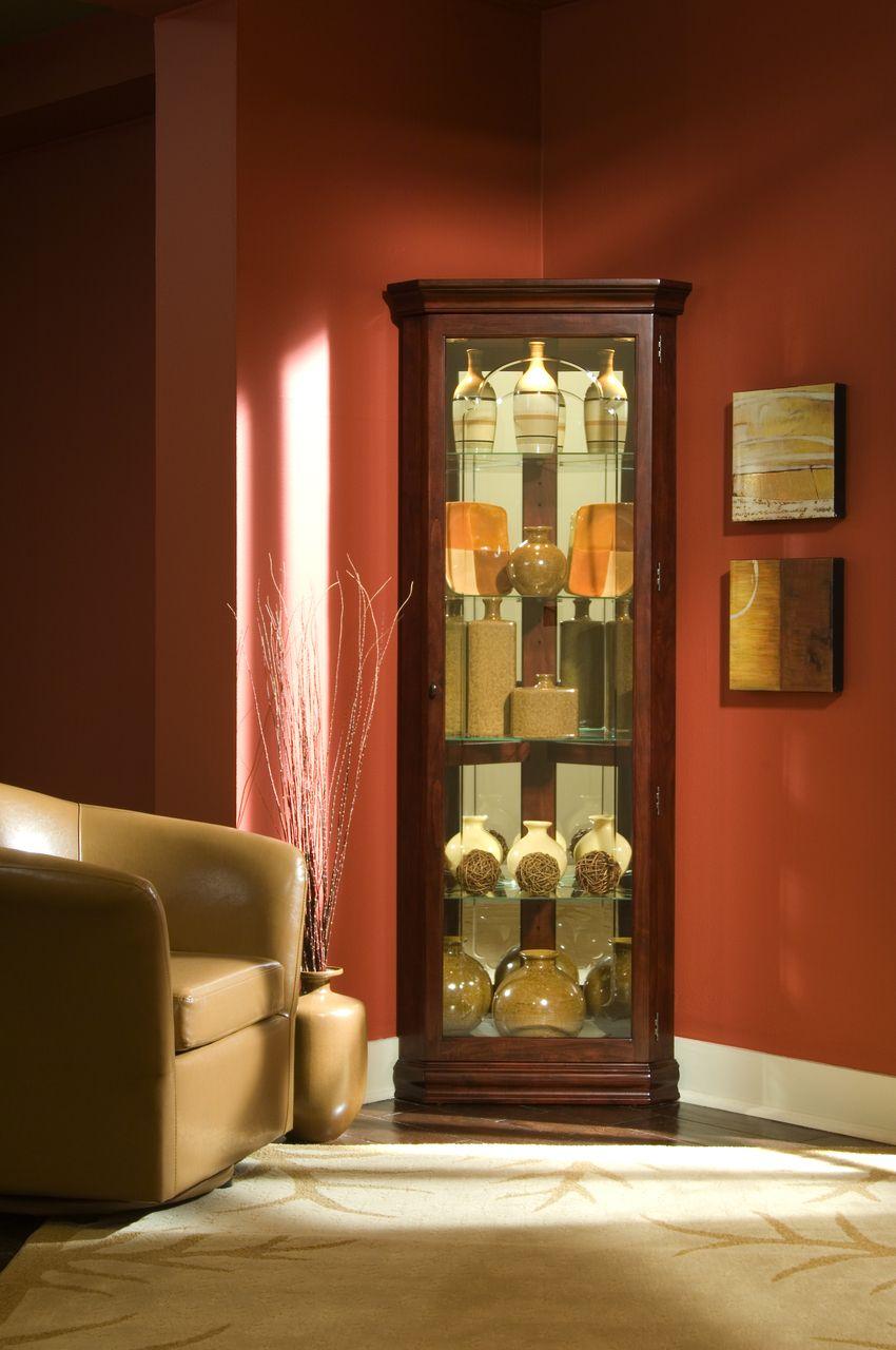 Pulaski 20205 Corner Curio Cabinet Carolina Discount