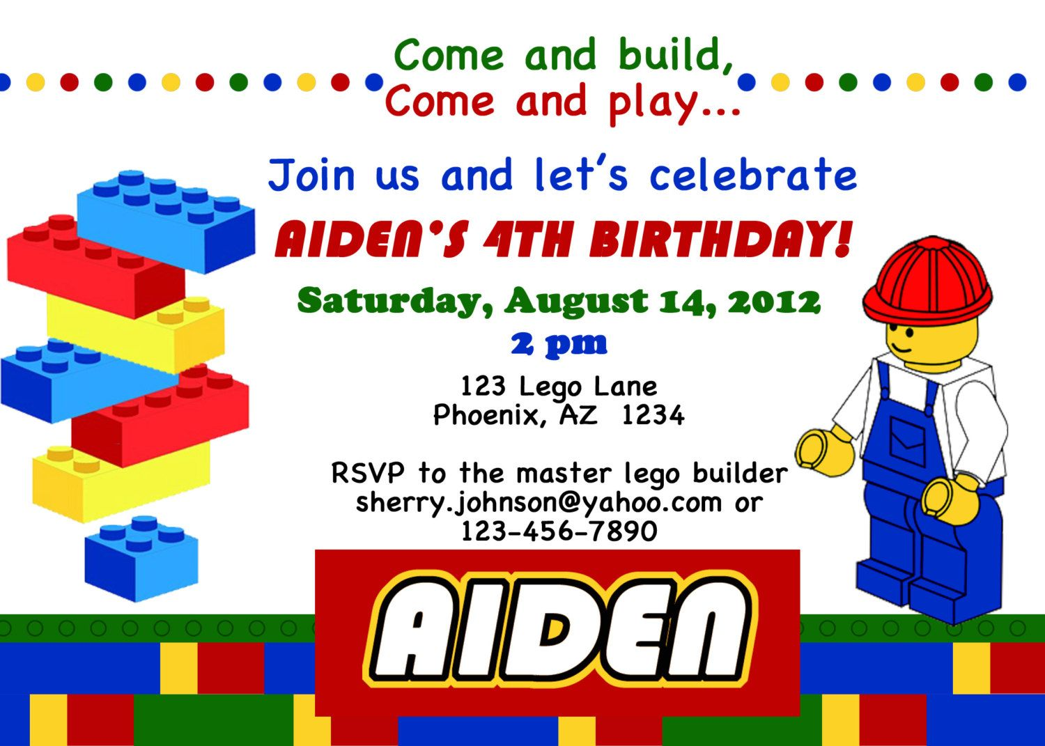 Free Printable Lego Invitations | Birthday Ideas | Pinterest | Lego ...