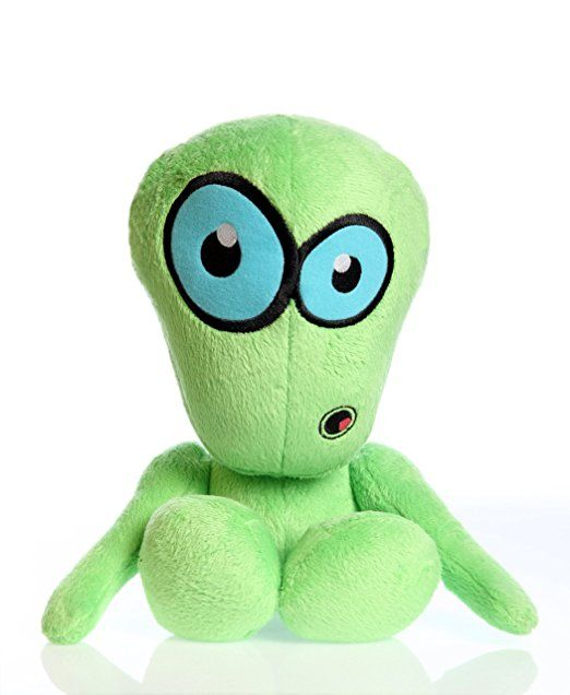 Hear Doggy Martians With Chew Guard Technology Tough Plush Dog Toy