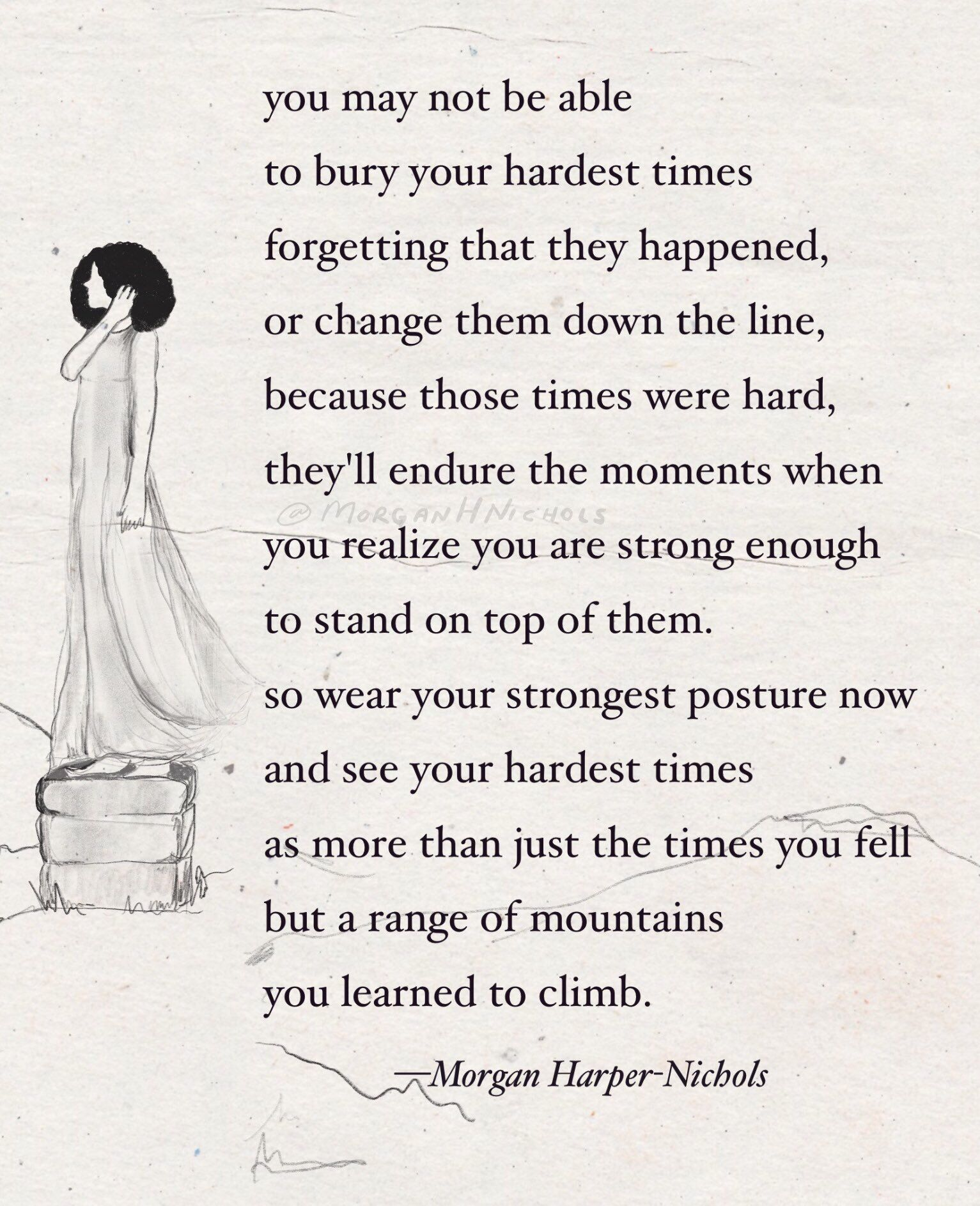 Inspirational Quotes Motivation: Poem For The Hard Times :: Morgan Harper Nichols Quotes