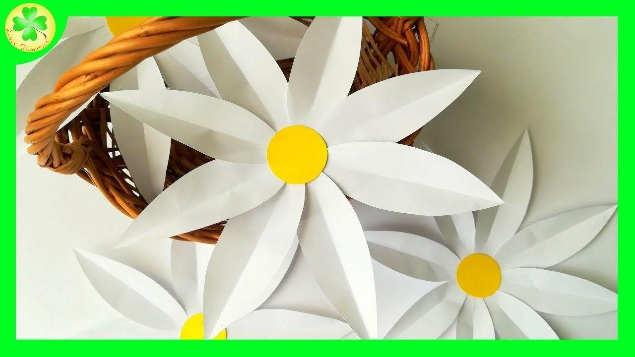 Filmik Prezentujacy Sposob Powstawania Slicznych Papierowych Stokrotek Stokrotka Stokrotki Daisy Kwiat Kwiatek Kwiaty Kw Paper Daisy Daisy Flowers