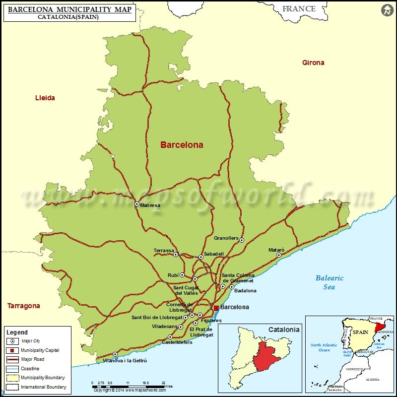 Map Of Spain With Barcelona.Barcelona Municipality Map Spain Spain Maps In 2019 Spain Map