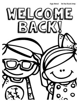 Free Back To School Coloring Pages First Week Of School