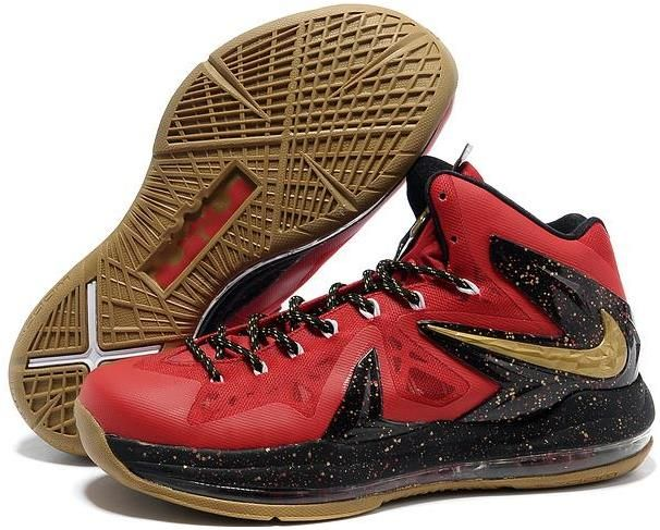 new arrival 01da3 5b1ad Lebron 10 P.S Elite Red Gold Black