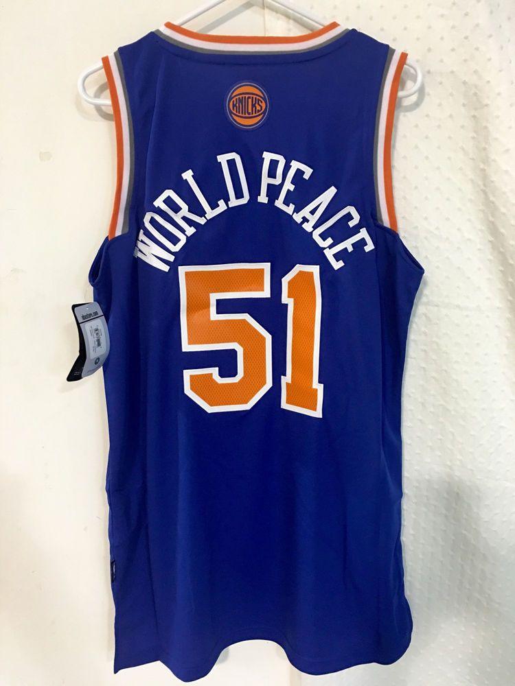 056b6a43b87 Adidas Swingman  NBA Jersey Knicks Metta World Peace Blue Sz M from  9.99