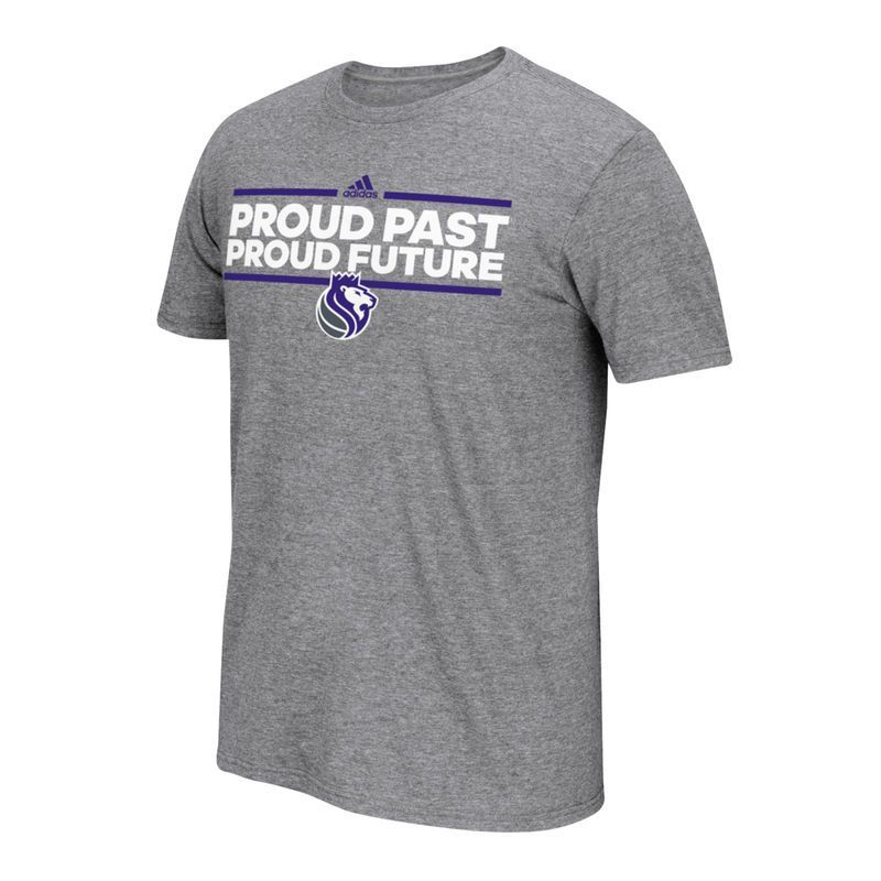8e2dcb99cee3a4 Sacramento Kings adidas Neue Phrase climalite T-Shirt - Charcoal ...