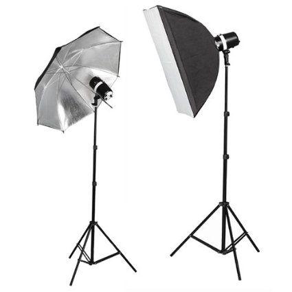 cowboystudio 220 watt photo studio monolight strobe flash softbox