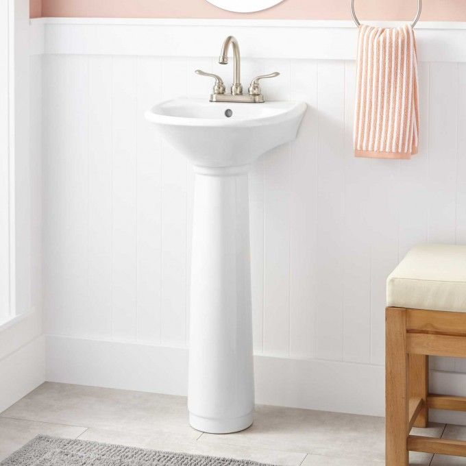 Farnham Mini Pedestal Sink We Ordered This For Our Tiny Bathroom And Are Very Hy With The Actual Product So Far Quality Is Good