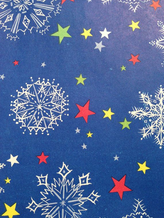 Vintage Christmas Wrapping Paper Patriotic Christmas Stars And